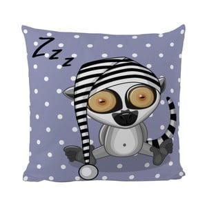 Vankúš Sleepy Lemur, 50x50 cm