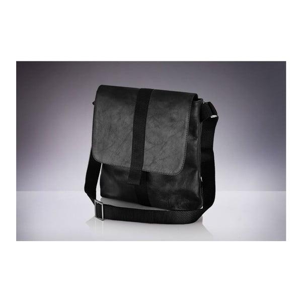 Pánska kožená taška Solier SL31, čierna