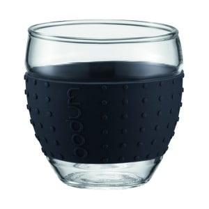 Sada 2 pohárov Pavina Small, čierny prúžok