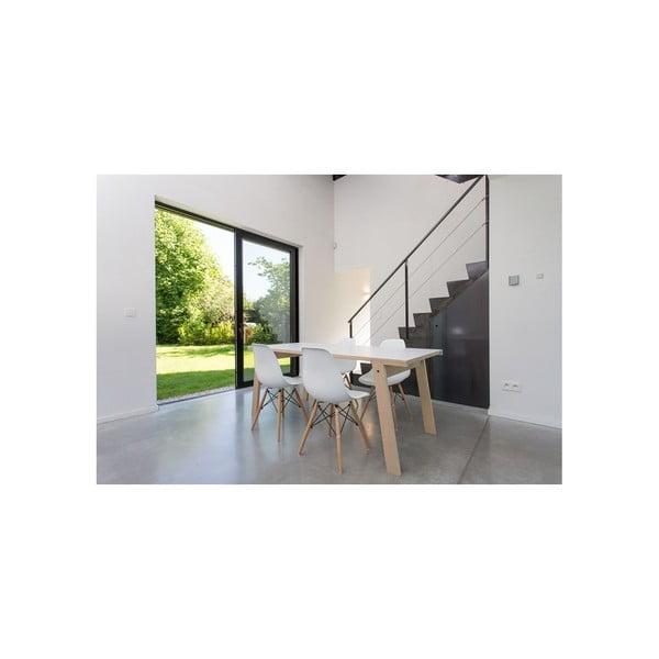 Jedálenský/pracovný stôl v dekore duba rform Flat, doska 200x90cm
