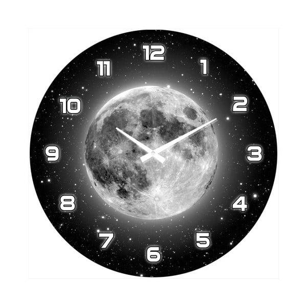 Sklenené hodiny Úplněk měsíce, 34 cm