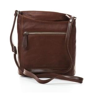 Hnedá kožená kabelka Gianni Conti Jocasta