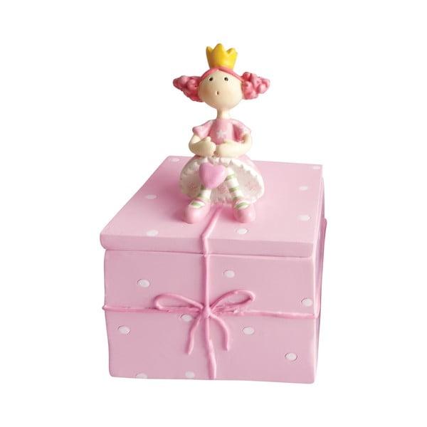 Ružový ozdobný box na drobnosti Cofanetto