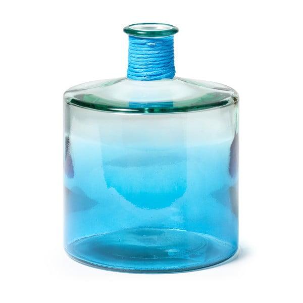 Modrá sklenená váza La Forma Sinclair