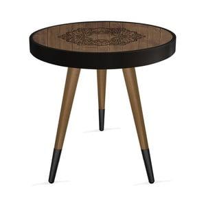 Príručný stolík Rassino Oriental Wood Circle, ⌀ 45 cm