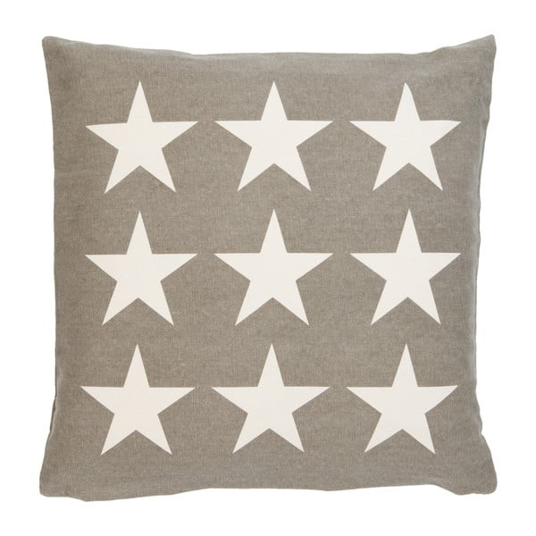 Obliečka na vankúš Clayre Stars, 50x50 cm, hnedá