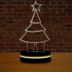 Lampa s 3D efektom Christmas no. 12
