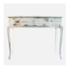 Drevený stolík White Days, 98x77 cm