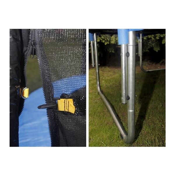 Trampolína s ochranou sieťou a rebríkom, 396 cm