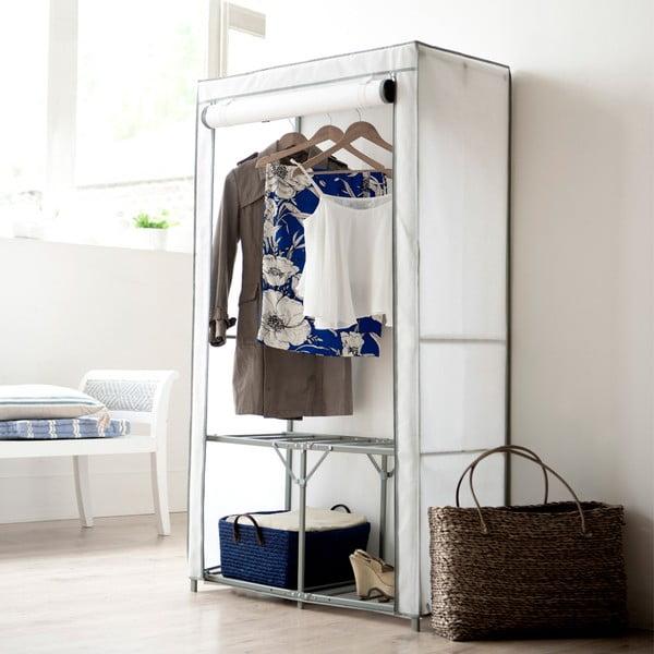 Biela textilná šatníková skriňa Compactor Wardrobe Organized