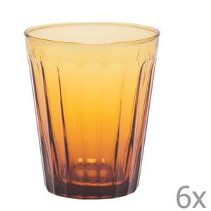 Sada 6 pohárov na vodu Lucca Honey, 450 ml