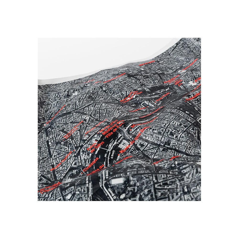 mapa sveta sa satelita Pokrčená cestovná mapa zo satelitu Amsterdam | Bonami mapa sveta sa satelita