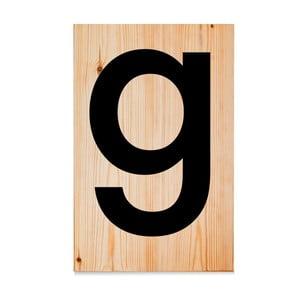 Drevená ceduľa Letters G