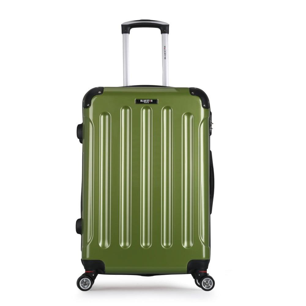 Zelený cestovný kufor na kolieskach Bluestar Miratio, 70 l