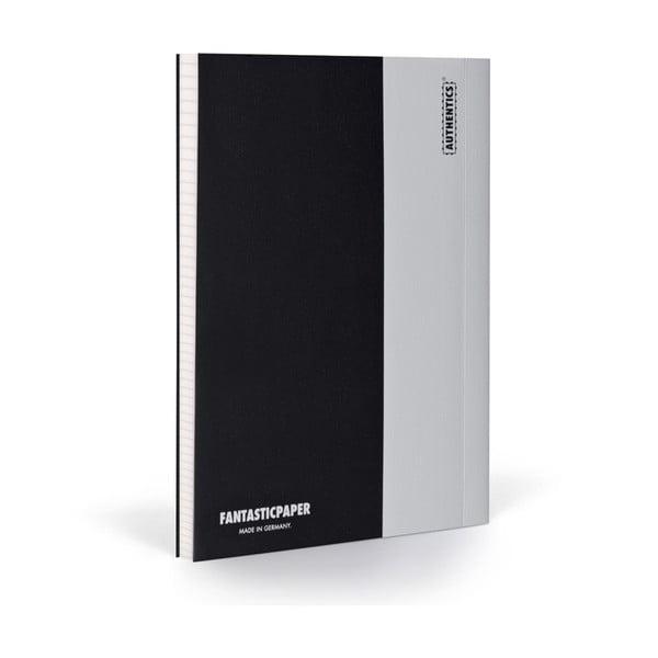 Zápisník FANTASTICPAPER XL Black/Cool Grey, štvorčekový