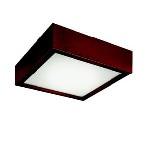 Hnedé štvorcové stropné svietidlo Lamkur Plafond, 27,5 x 27,5 cm