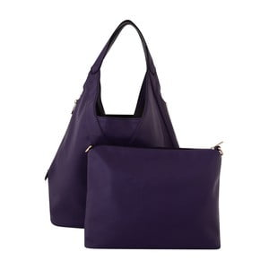 Tmavofialová kožená kabelka Kris Ana Purple