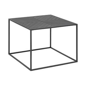 Čierny konferenčný stolík Actona Orizs, 60×60 cm