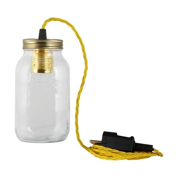 Svietidlo JamJar Lights, žltý zakrútený kábel