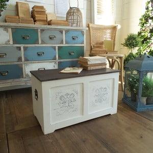 Konferenčný stolík s úložným priestorom Antique White