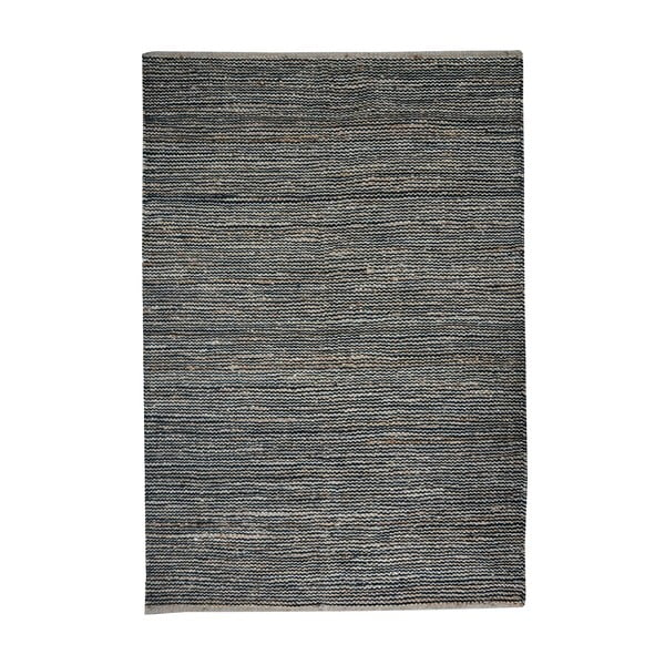Konopný koberec Coastal Natural/Black, 160x230 cm