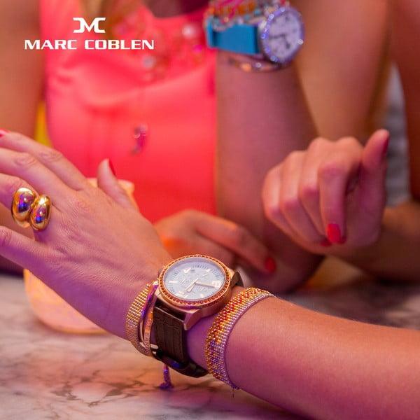 Dámske hodinky Marc Coblen s remienkom a krúžkom na ciferník naviac P113