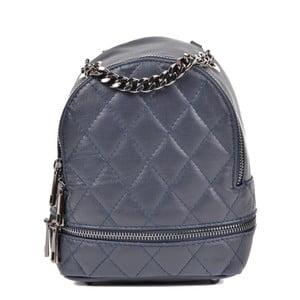 Tmavomodrý kožený dámský batoh Roberta M Musillo