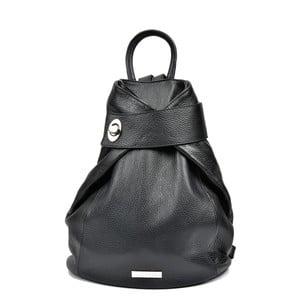 Čierny kožený batoh Anna Luchini Luciana