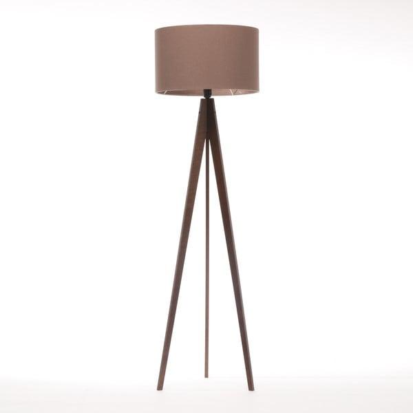 Stojacia lampa Artist Dark Taupe Felt/Dark Brown, 125x42 cm