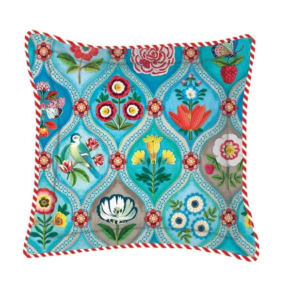 Vankúš Fairy Tiles Turquoise, 45x45 cm