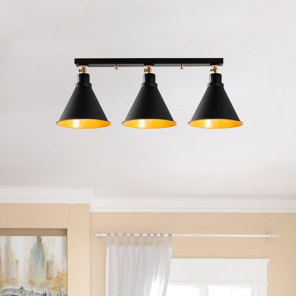Čierne stropné svietidlo pre 3 žiarovky Opviq lights Berceste Shore Značka <b>Opviq lights</b> verí, že domov by mal byť odrazom vašej osobnosti.  Ak ste hľadali poslednú bodku, ktorá váš <b>interiér doladí na tú správnu nôtu</b>, práve ste ju našli.