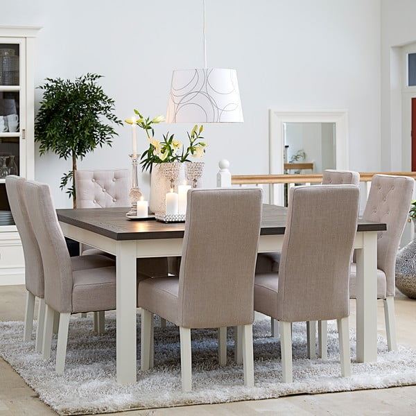 Biely jedálenský stôl Canett Skagen Dining, 150 cm