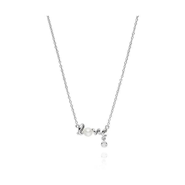 Náhrdelník s perlovým príveskom Pearls of London Love, 42 cm