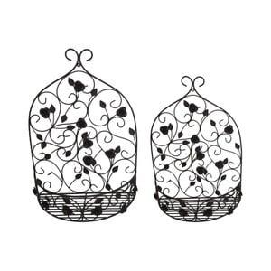 Súprava 2 nástenných držiakov na kvetináče Antic Line tálne