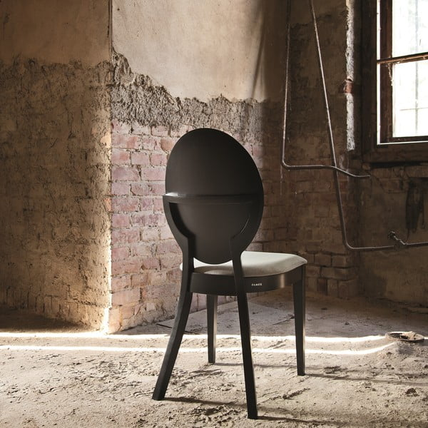 Sada 2 čiernych drevených stoličiek Fameg Anesa
