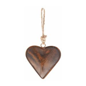 Závesná dekorácia v tvare srdca Antic Line, 36 cm