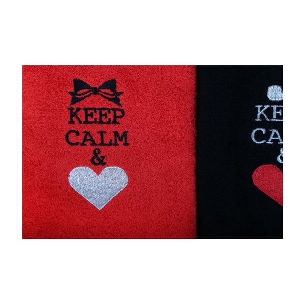 Sada 2 uterákov Keep Calm, 50 x 90
