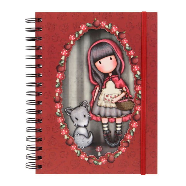 Červený linkovaný zošit Santoro London Gorjuss Little Red Riding Hood
