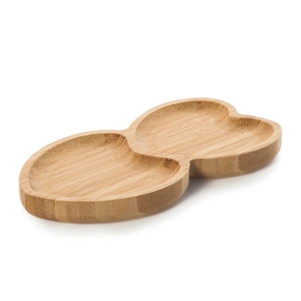 Servírovací podnos z bambusovejho dreva v tvare srdca Bambum Amor