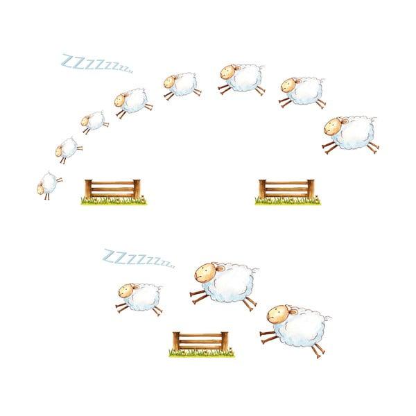 Samolepka na okno Counting Sheep