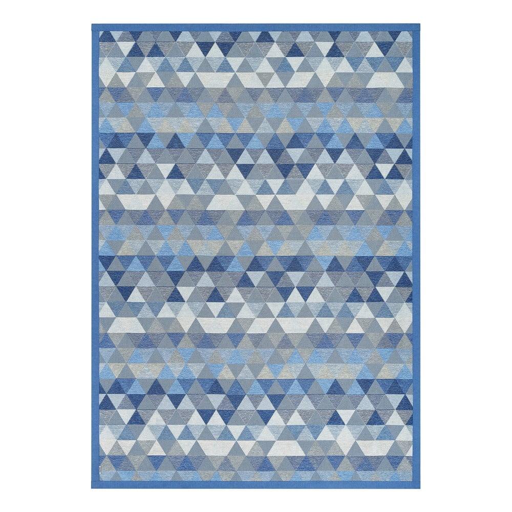 Modrý obojstranný koberec Narma Luke Blue, 100 x 160 cm