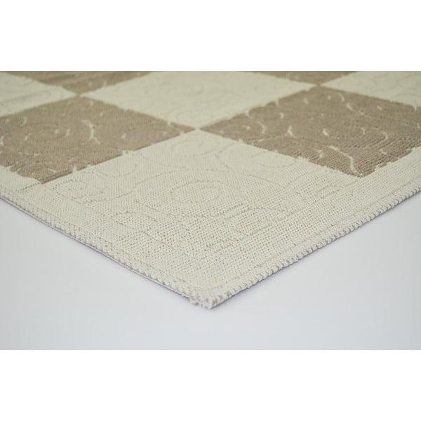 Béžový odolný koberec Vitaus Patchwork, 140x200cm