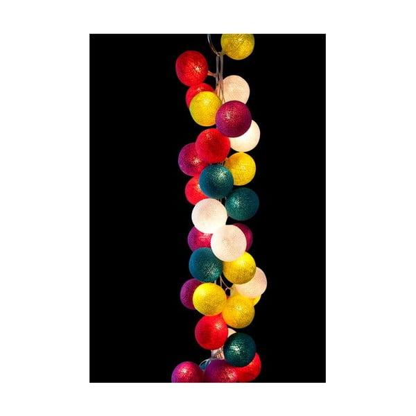 Svetelná reťaz Rainbow Drops, 35 ks svetielok
