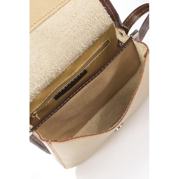Kožená kabelka Shray, taupe