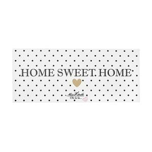 Kovová dekoratívna ceduľa Miss Étoile Home Sweet Home, 13 x 30 cm