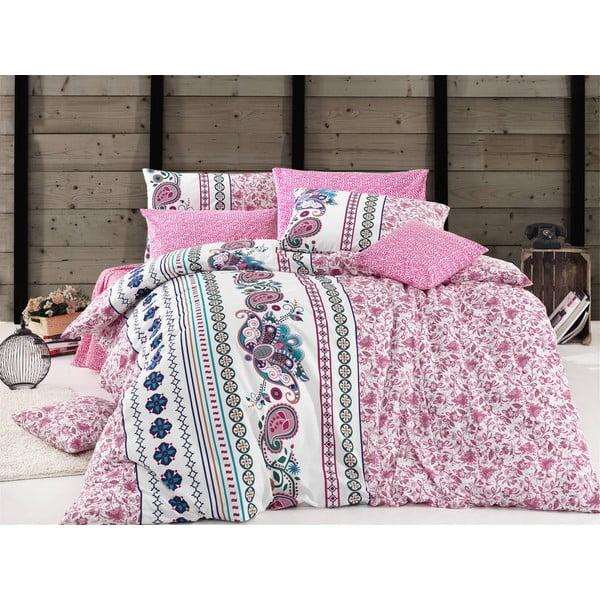 Obliečky s prestieradlom Mystical Pink, 200x220 cm