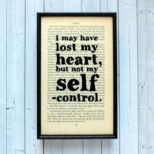 Plagát v drevenom ráme Emma Self Control