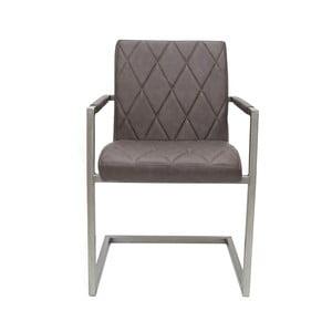Antracitovosivá jedálenská stolička s opierkami LABEL51 Oslo