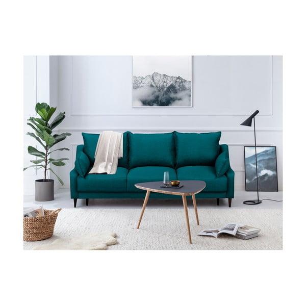 Tyrkysová rozkladacia trojmiestna pohovka s úložným priestorom Mazzini Sofas Ancolie