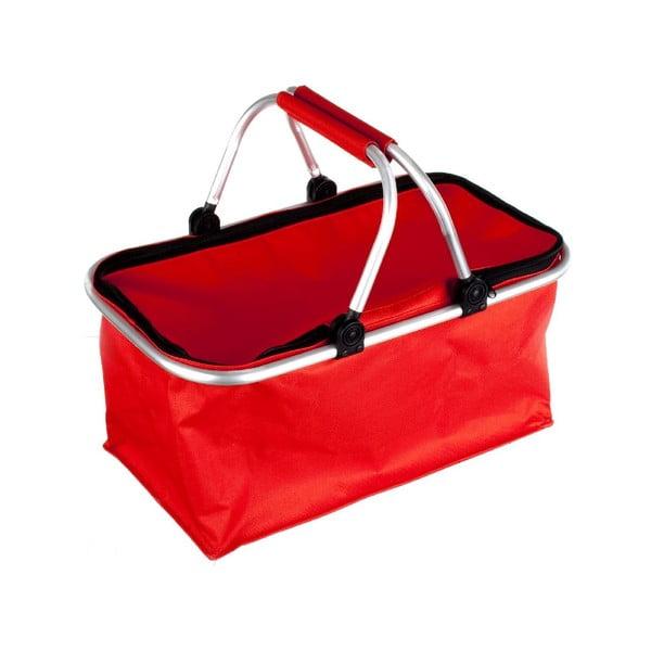 Prenosný nákupný košík Vetro, červený